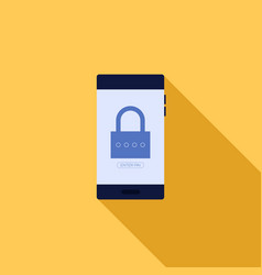 smartphone password security system concept flat vector image