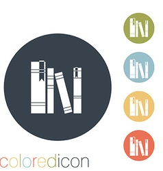 spines of books vector image