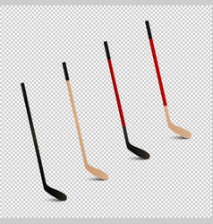 sports realistic icon set - ice vector image