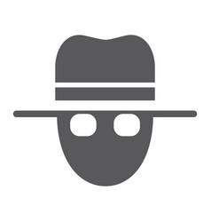 spy glyph icon private and detective agent sign vector image