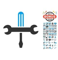 Tools Icon With 2017 Year Bonus Symbols vector