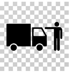 truck customer icon vector image
