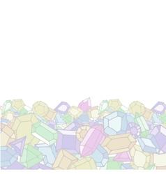 Cartoon doodle gems light background vector image