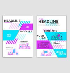 flyer design-business theme vector image