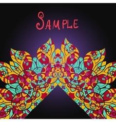 Frame of ornate mandala with corner made in vector image