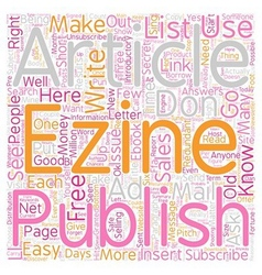 I ll Show You Mine How To Start Your Own eZine vector image