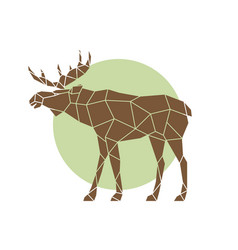 polygonal abstract elk wild animal side view vector image vector image
