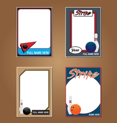 Bowling cards vector