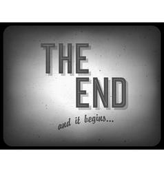 end cinema concept vector image vector image