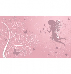 fairy with butterflies vector image