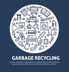 garbage recycling for ecology protection agitative vector image