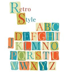 Handwritten vintage alphabet vector image