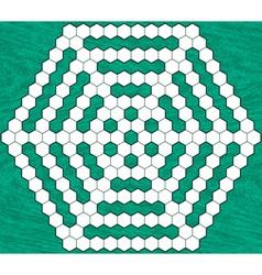 Hexagonal crossword vector
