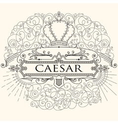 Luxurious vintage calligraphic design of frame vector image vector image