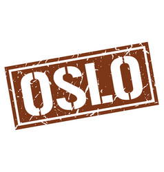 oslo brown square stamp vector image vector image