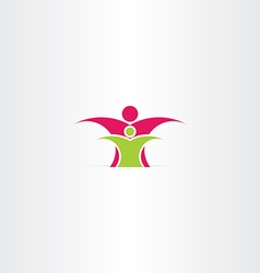 parent and child icon design vector image vector image