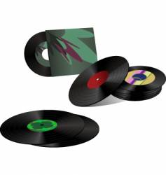 record collection vector image vector image