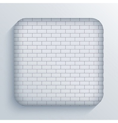 app brick icon on blue background Eps10 vector image