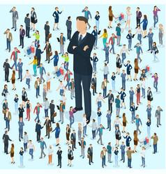 businessman big boss leader vector image