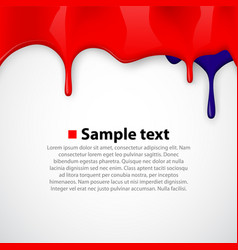 colorful paint dripping background vector image