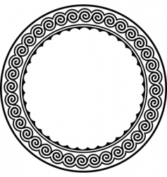 round frame with a meander vector image vector image