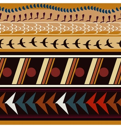 Seamless with ethnic patterns and silhouettes vector image vector image