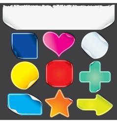 Sticker shapes vector