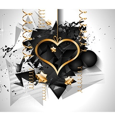 Valentines Day background for dinner invitations vector image
