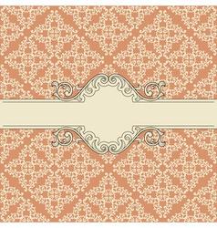 vintage invitation or menu template vector image vector image