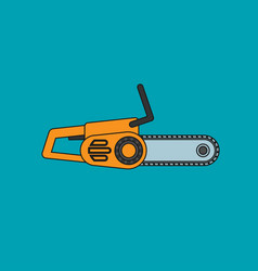 chainsaw icon in flat style vector image