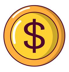 coin icon cartoon style vector image