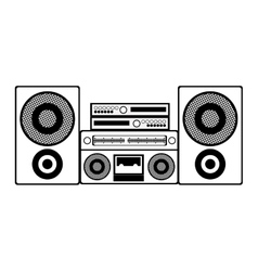 contour monochrome with sound system stereo vector image