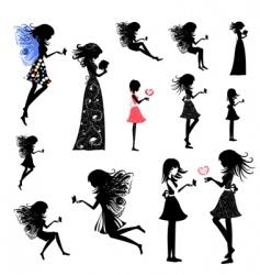 Girl fairy set vector