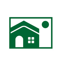 house image simple icon vector image