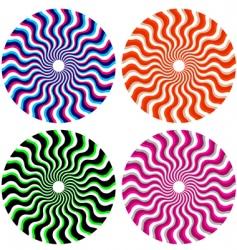 optical ornamental wheels vector image vector image