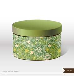 Packaging gift box on isolated background vector image