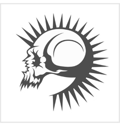 with punk skull vector image