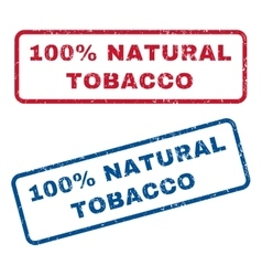100 Percent Natural Tobacco Rubber Stamps vector