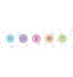 5 breakfast icons vector