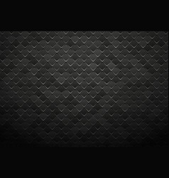 abstract black metal tile background vector image