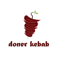 Abstract doner kebab vector