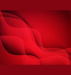 abstract template design with colorful red vector image