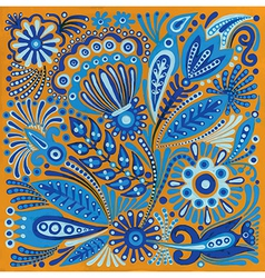 Acrylic painting flower ethnic design vector