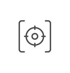 aim line icon vector image
