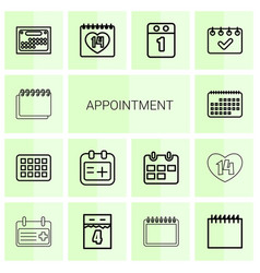Appointment icons vector
