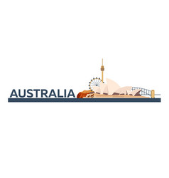 australia tourism travelling vector image