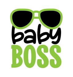 Baby boss - scandinavian text f vector