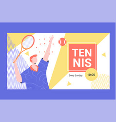 Banner for competitions or training in innings vector