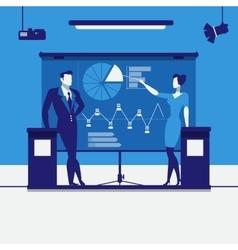 Business presentation concept vector