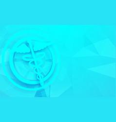 caduceus symbol and medicine science technology vector image